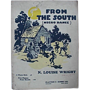 SOLD Black Americana From The South Negro Dance Sheet Music 1950s