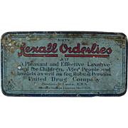 Rexall Orderlies Laxative Hinged Advertising Tin