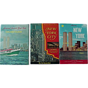 New York City Souvenir Nester Bi Centennial  Cruise Guide Book Lot Of # Books 1970s Features W