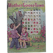 Visit Mother GooseTown With Jack And Jill A Peek A Boo Book By Lee Mero 1940s
