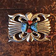 SOLD Vintage Navajo Sterling Belt Buckle by Arthur J. Williams
