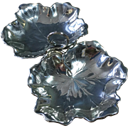 Reed and Barton Sterling Silver Geranium Leaf Serving Dish