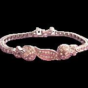 Elegant 14K White Gold Approx. 1.75 carat Diamond Vintage Bracelet