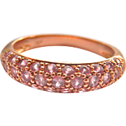 SALE Final Markdown! Lovely 18K Rose Gold Pink Sapphire Pavé Band Ring