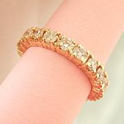 SALE Terrific 18K Y/Gold 2.39 CTW. Diamond Full Eternity Ring