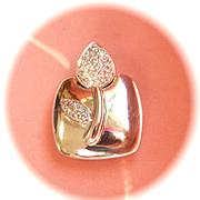 Terrific 18K W/Gold CHIMENTO Sentimenti D'oro Diamond Pendant
