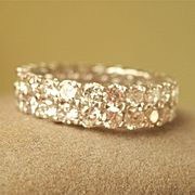 SALE Stunning! 14K W/Gold 3.80 CTW Diamond Full Eternity Ring