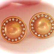 Fabulous 18K Gold Diamond Kieselstein Cord Round Earrings