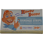 SOLD NOS Howdy Doody Bandage Strips In Original Box