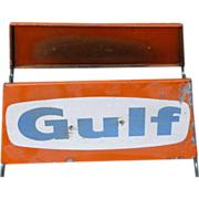 Gulf Gasoline Advertising Tire Stand