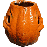Halloween Paper Mache Two Faced Jack O Lantern