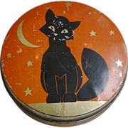 Halloween Black Cat Toffee Tin