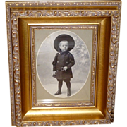 SOLD Adorable Victorian Boy Photograph - All Dressed Up!