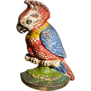 SOLD Hubley Cast Iron Cockatoo Door Stop