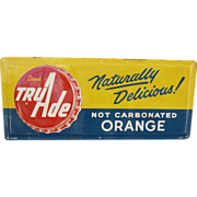 TruAde Orange Soda Tin Advertising Sign