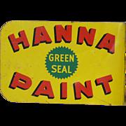 Porcelain Hanna Paint Advertising Flange Sign