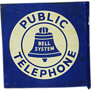 Bell System Telephone Flange Advertising Sign