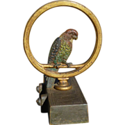 Bradley Hubbard Parrot In A Ring Cast Iron Doorstop