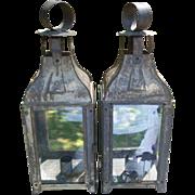 Pair Tin Candle Lanterns