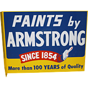 SALE Paints By Armstrong Double Sided Flange Advertising Sign
