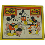 SOLD Disney Pin The Tail On Mickey Mickey Mouse Party Game