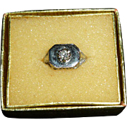 10K Gold Ring With Center Diamond