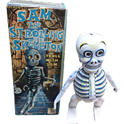 Sam The Strolling Skeleton Halloween Wind Up Toy