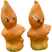 Pair Of Halloween Composition Veggie Figures