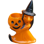 Rosbro Witch And Pumpkin Halloween Candy Container