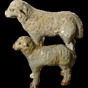 Paper Mache Putz Sheep