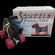 Hubley Scottie Pull Toy In Original Box