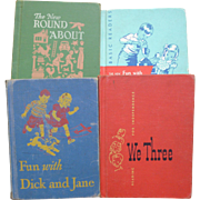 SOLD Early Readers Dick And Jane Children's Books - Red Tag Sale Item