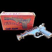 SOLD J & E Stevens Jet Jr. Space Police Toy Cap Gun W/Original Box
