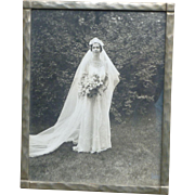Lovely Framed 20's Wedding Bride Photograph