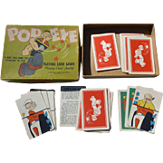1934 King Features Popeye Card Game