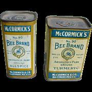 Bee Brand Spice Tins
