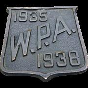 Bronze WPA Plaque