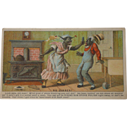 Black Americana Rising Sun Stove Polish Advertising Trade Card