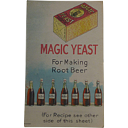 Magic Yeast For Making Root Beer Advertising Trade Card Brochure