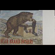 Bear Brand Hosiery Advertising Postcard