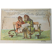 Udell Wood Bowls Victorian Trade Card - Monkeys Voting!