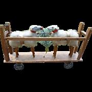 Wooly Putz Sheep Platform Pull Toy