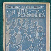 SALE Antique Faultless Starch Ten Little Pickaninnies Premium Booklet