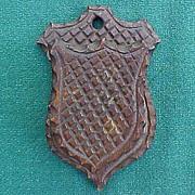 SALE Folk Art Chip Carved Match Safe