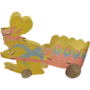 SALE Easter Rabbit And Cart Candy Container