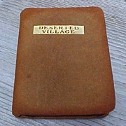 SALE Early Miniature Book The Deserted Village