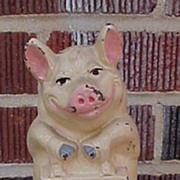 Hubley Wise Pig Thrifty Cast Iron Still Bank