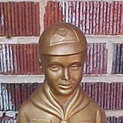 SALE Figural Cub Scout Bank - A Cub Scout Saves