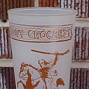 SOLD Neat Vintage Davy Crockett Glass With Farm Bureau Advertising