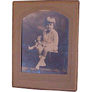 SALE Adorable Large Original 20's Photograph Young Girl And Her Doll